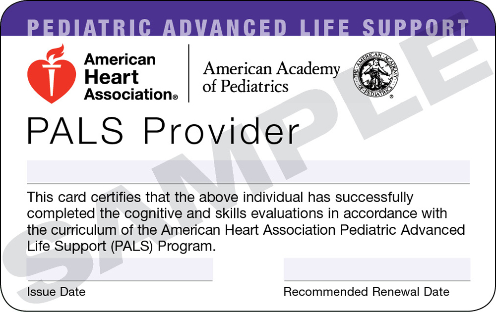 Pediatric Advanced Life Support Pals